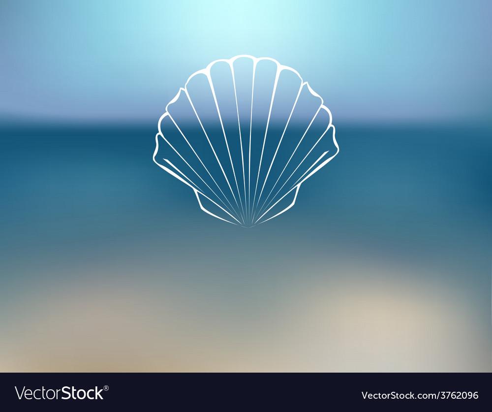 Marine background vector