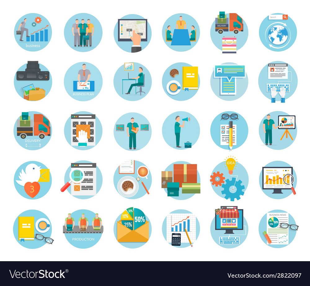Analyze of internet shopping process of purchasing vector
