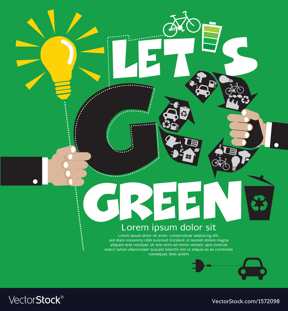 Go green concept eps10 vector