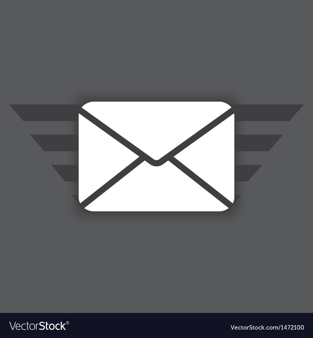 Icon of envelope vector