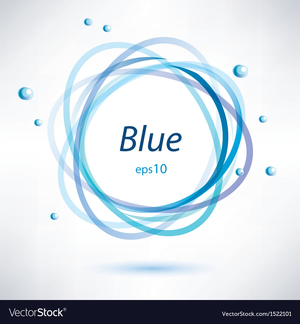 Abstract blue frame vector