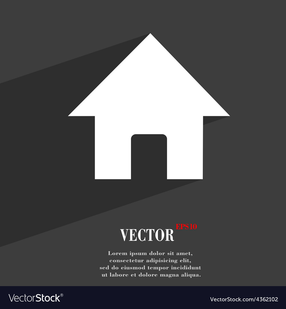 Home main page icon symbol flat modern web design vector
