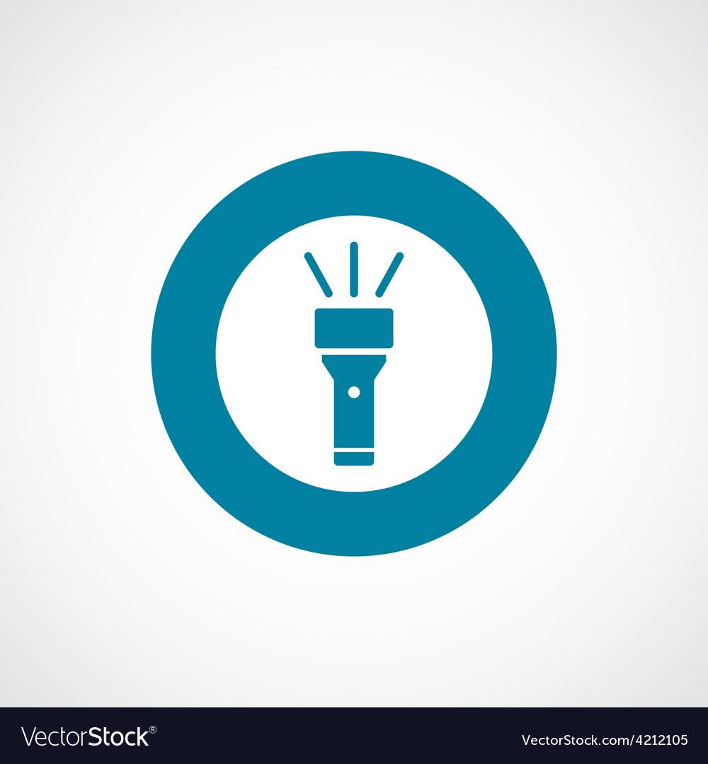 Flashlight icon bold blue circle border vector