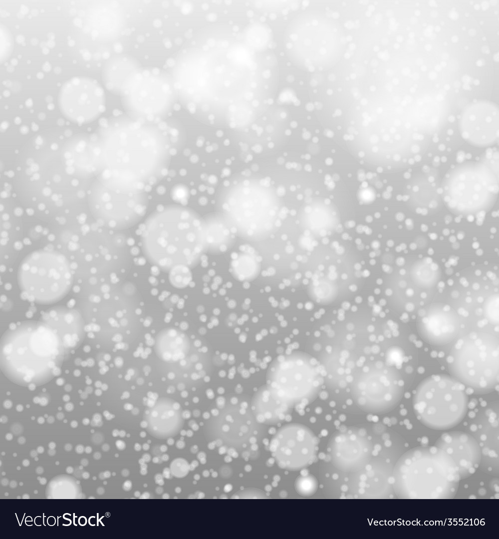 Falling snow on the gray - image grey vector