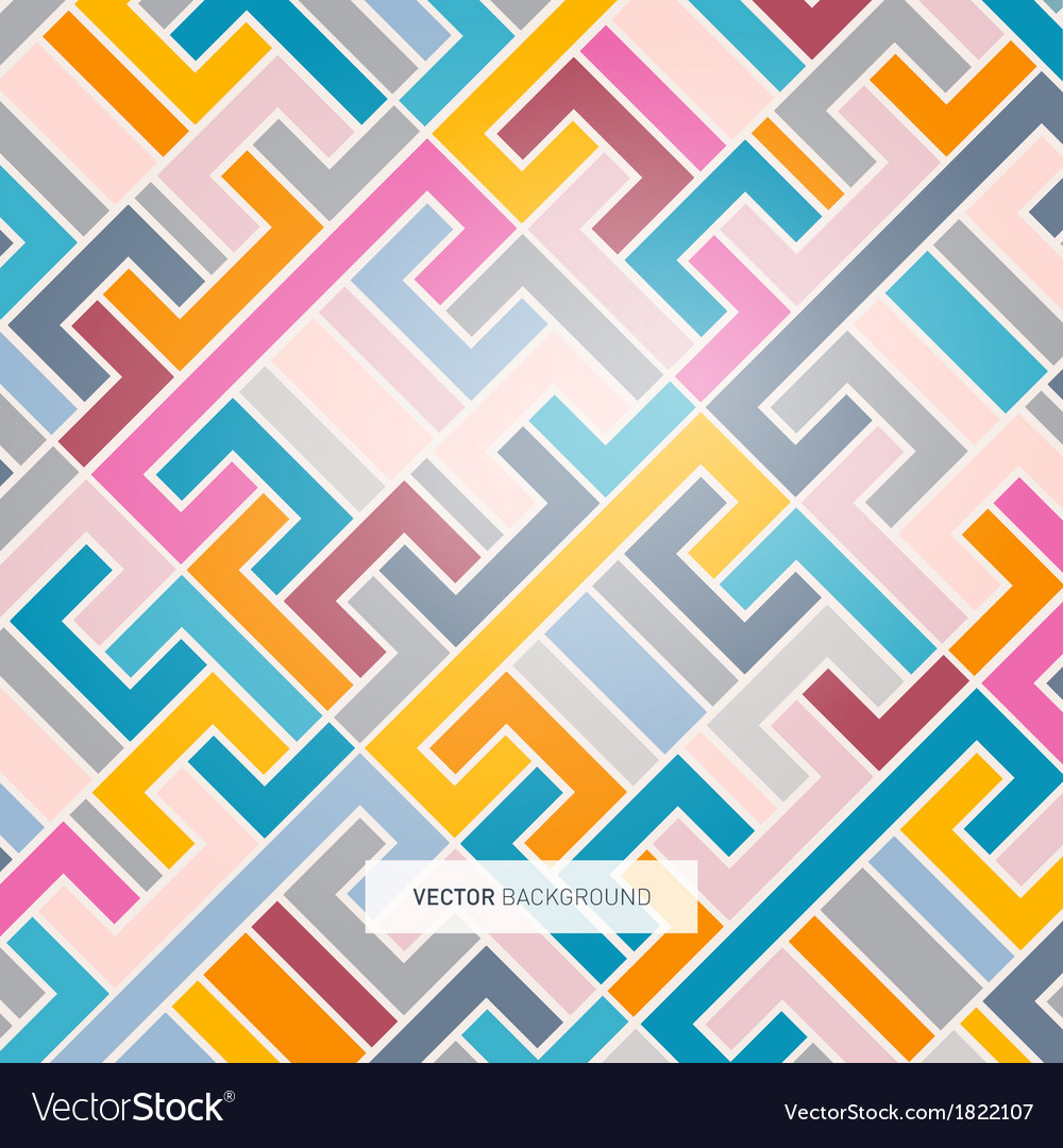Abstract retro colorful light background vector