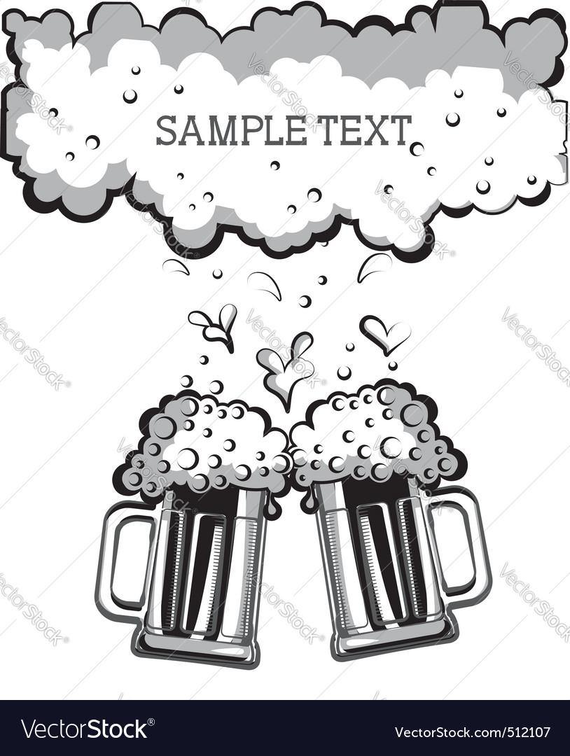 Beer festival background vector