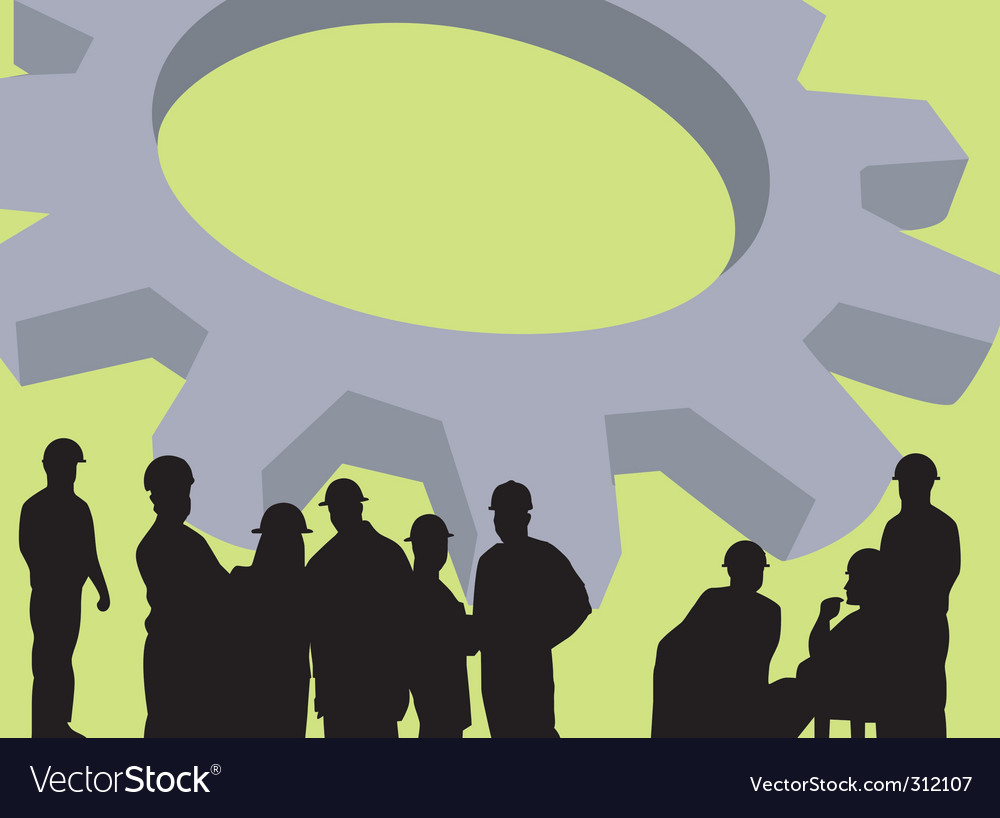 Silhouette of group vector