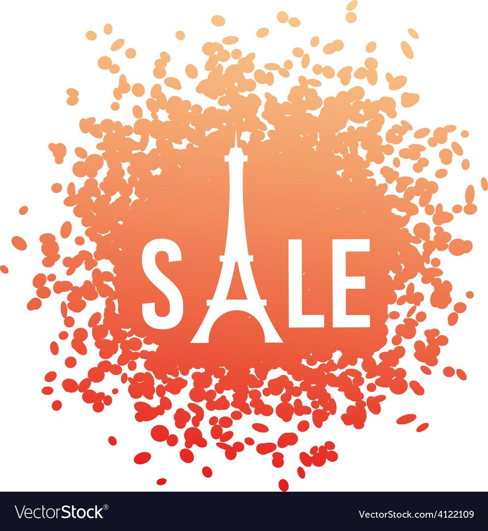 Eiffel shape sale vector