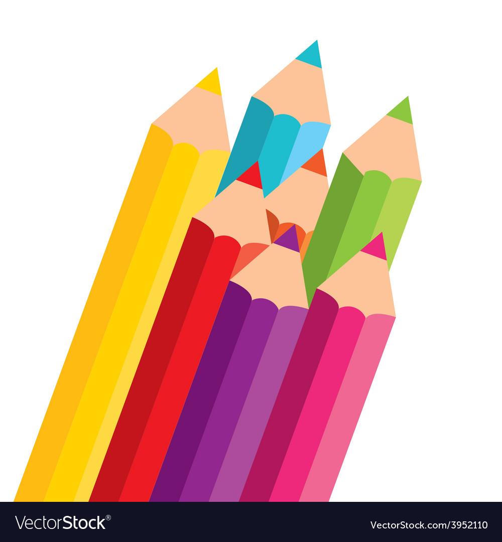 Colors pencils vector