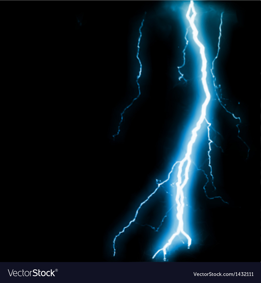 Abstract blue lightning flash background vector