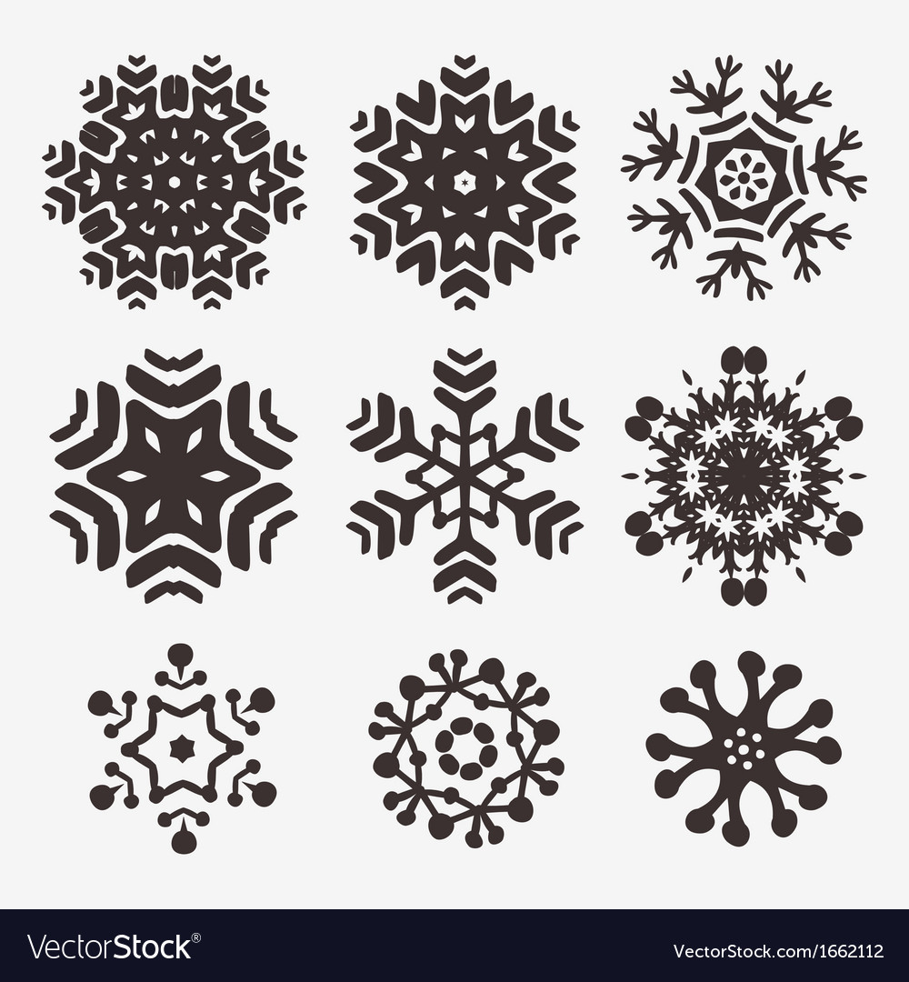 Snowflake set vector