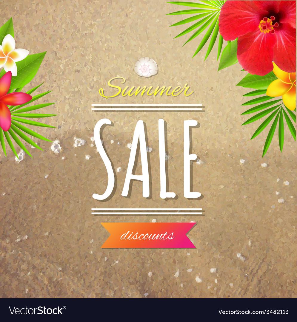 Sale card vector