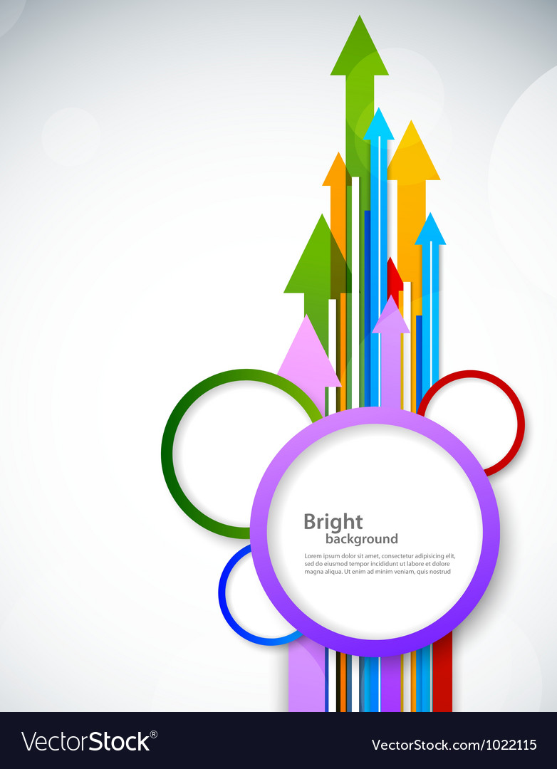 Background with arrow and circles vector