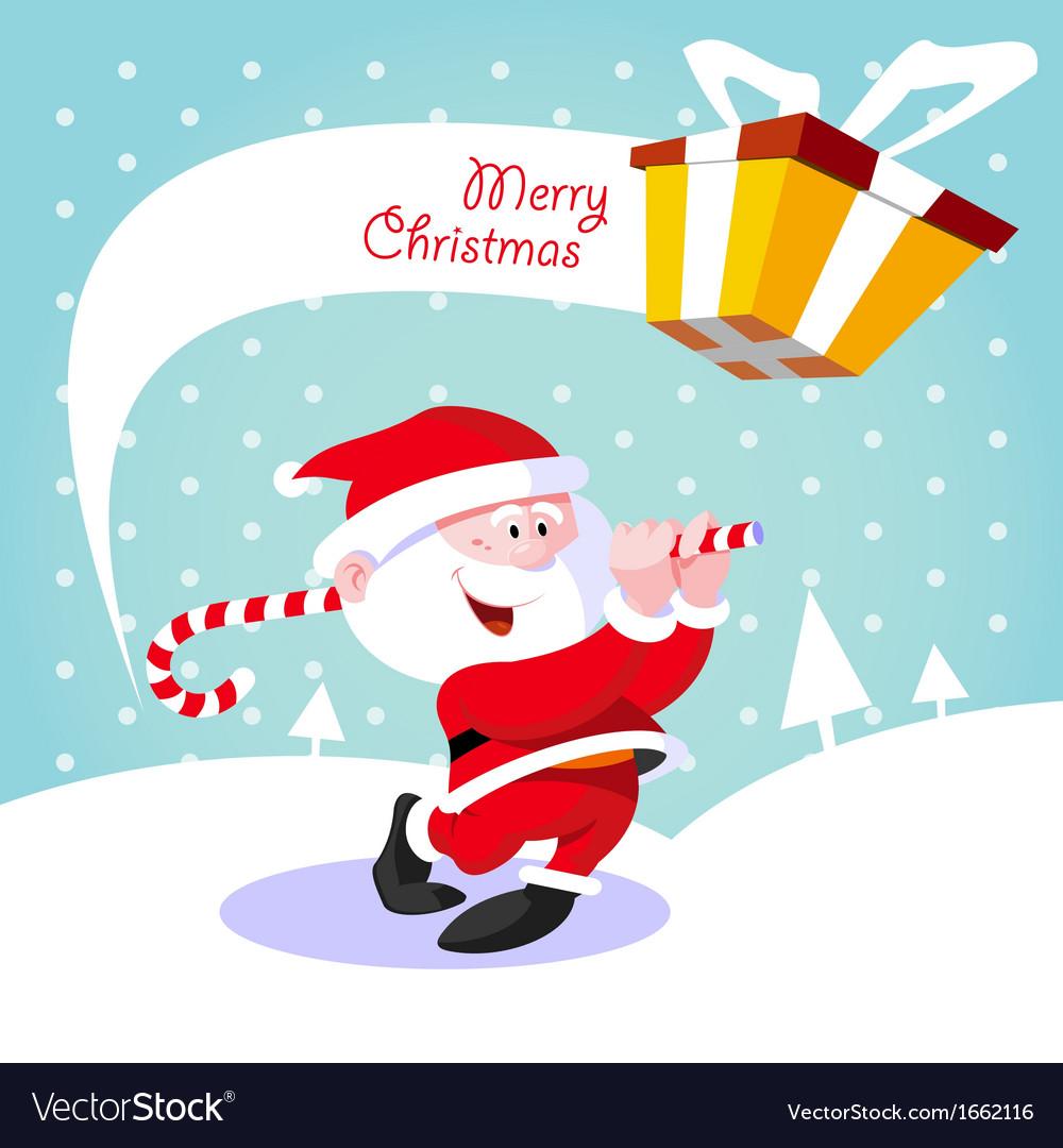 Happy santa claus vector