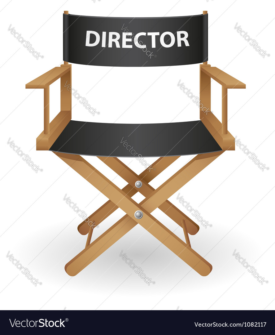 Director movie chair vector