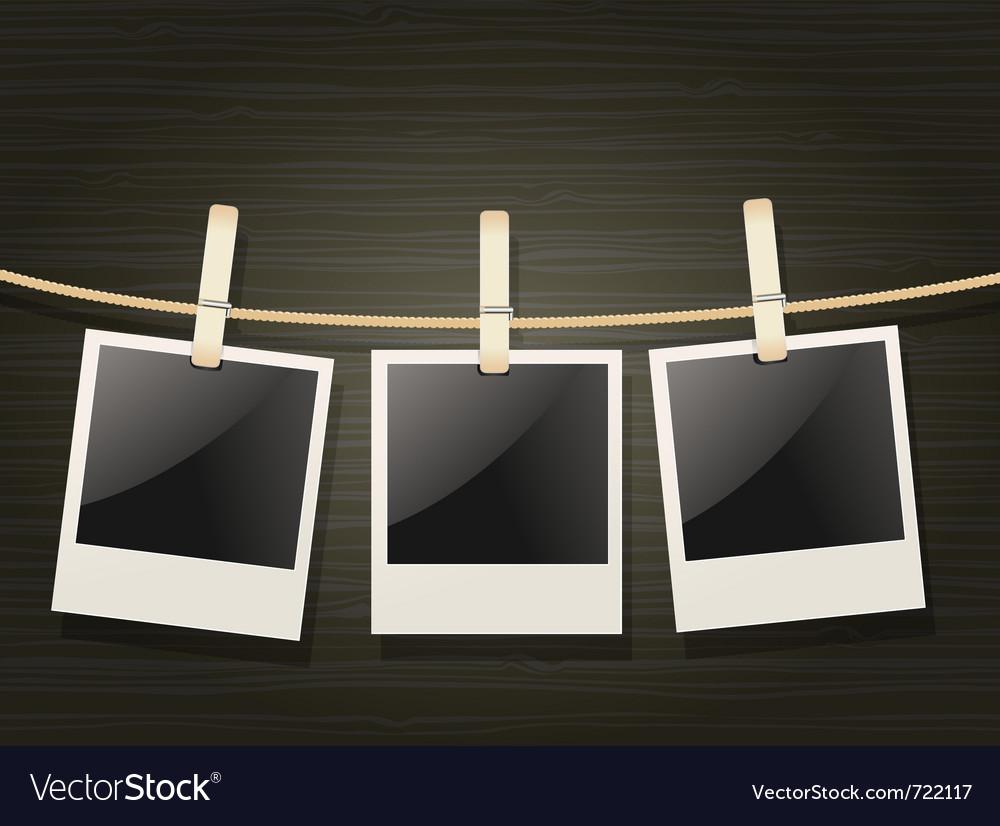 Polaroids vector