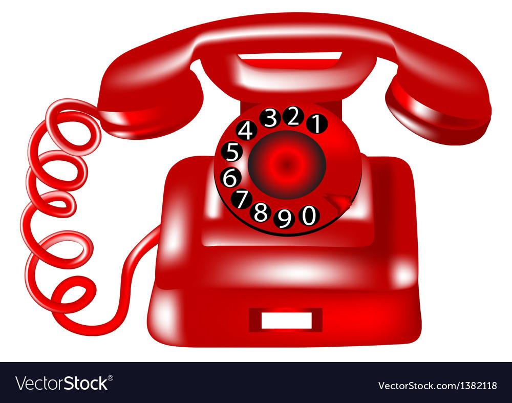 Rotary dial telephone vector