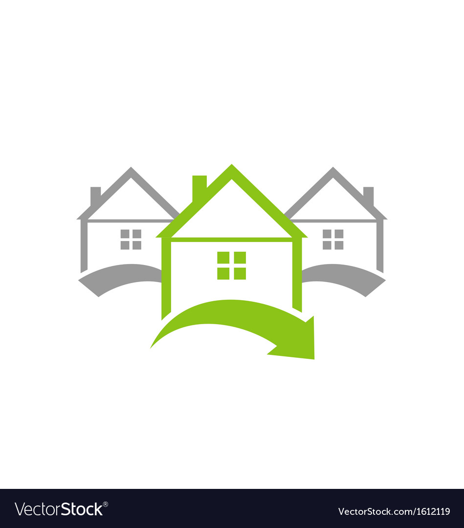 Ecological concept icon renewable green houses vector