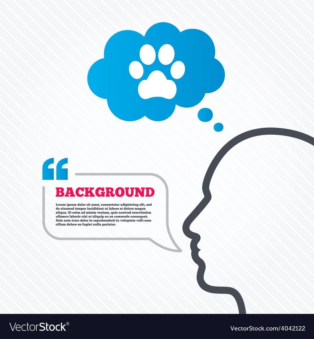 Dog paw sign icon pets symbol vector