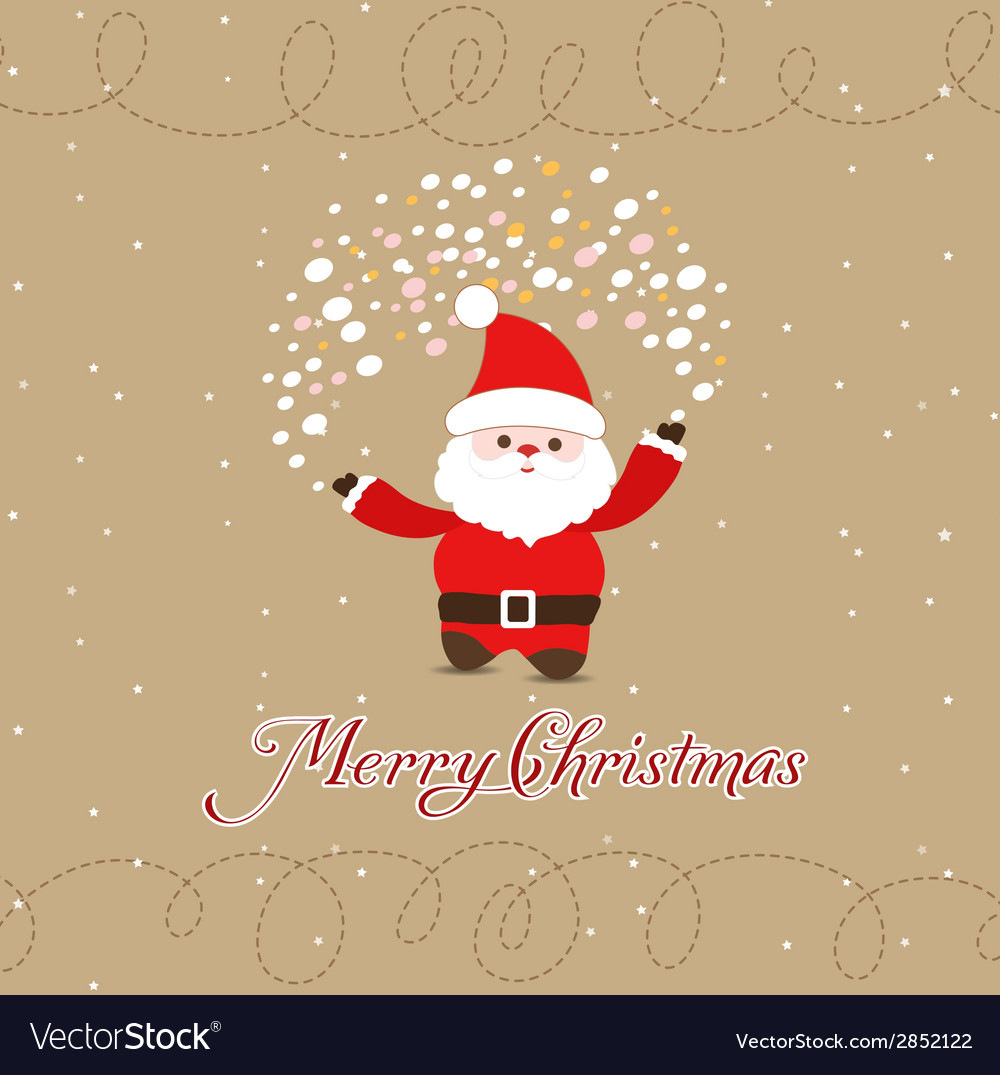 Merry christmas with santa claus vector