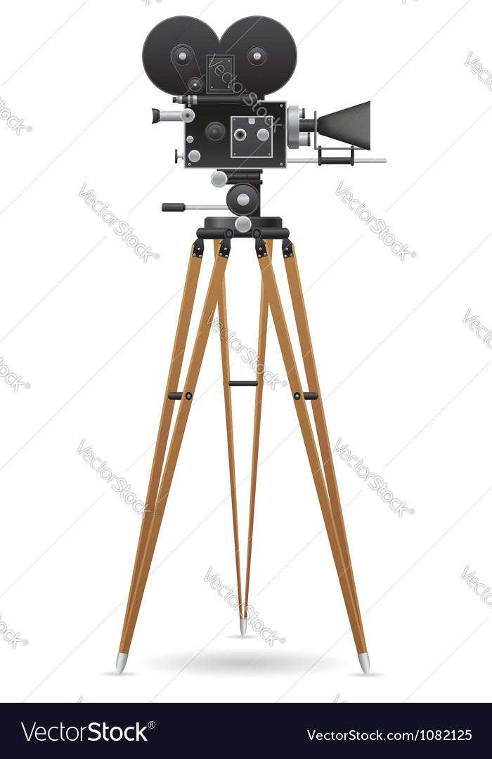 Old movie camera 02 vector