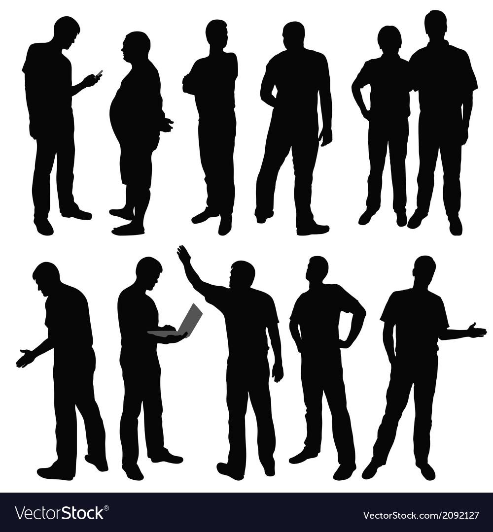 Group of men vector