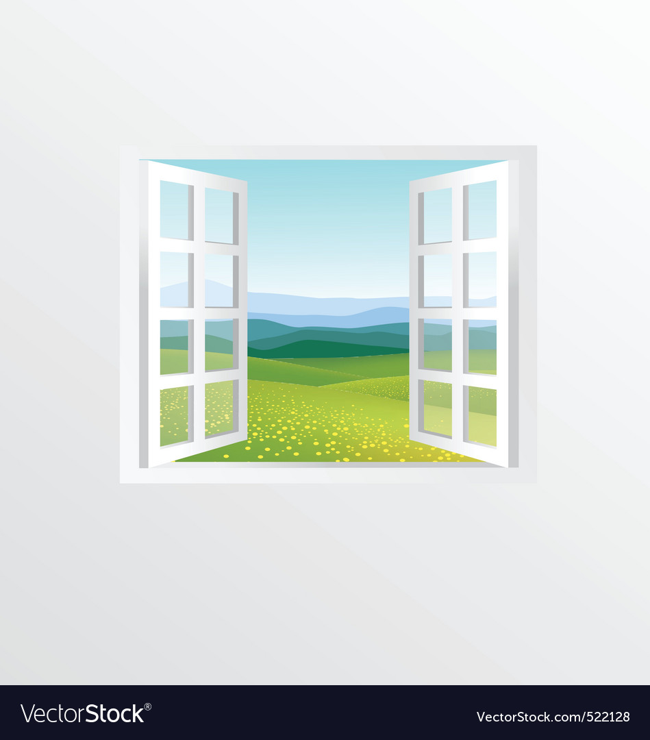 Open windows vector