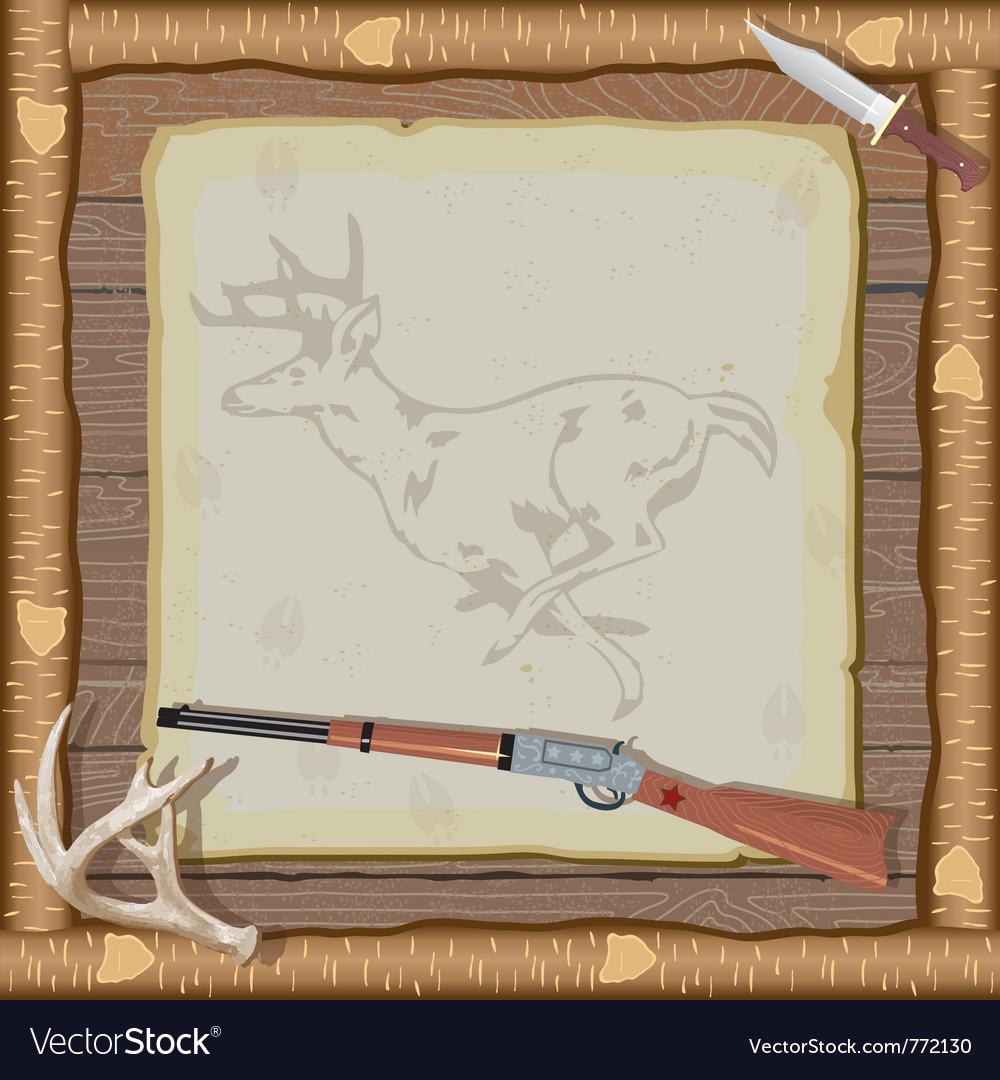 Hunting invitation vector
