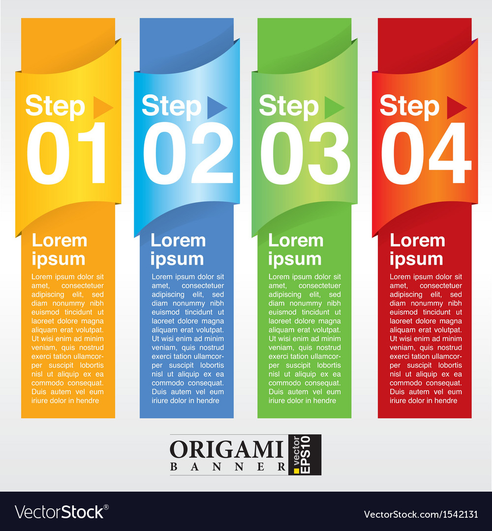Abstract colorful vertical banner eps10 vector