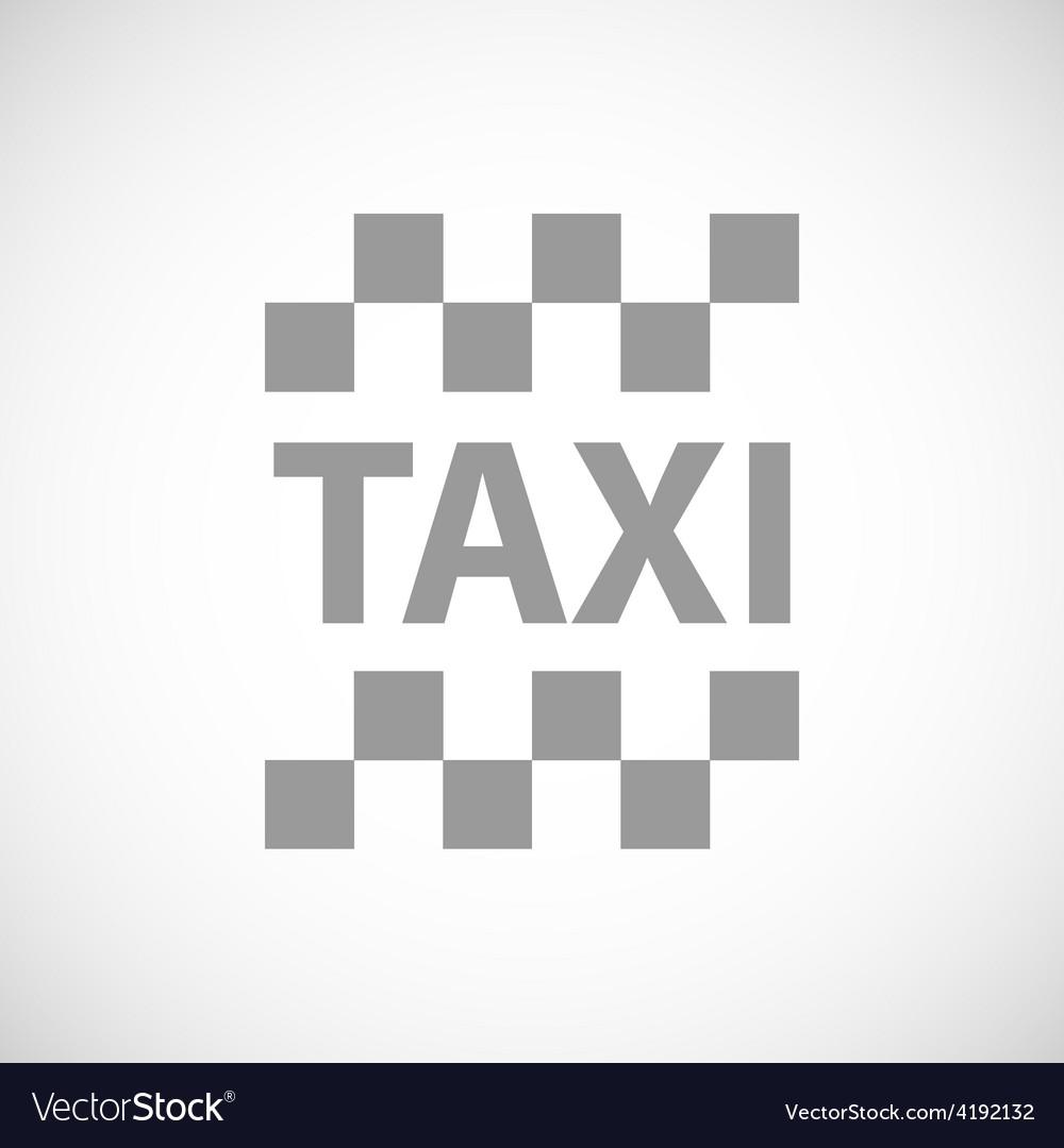 Taxi black icon vector