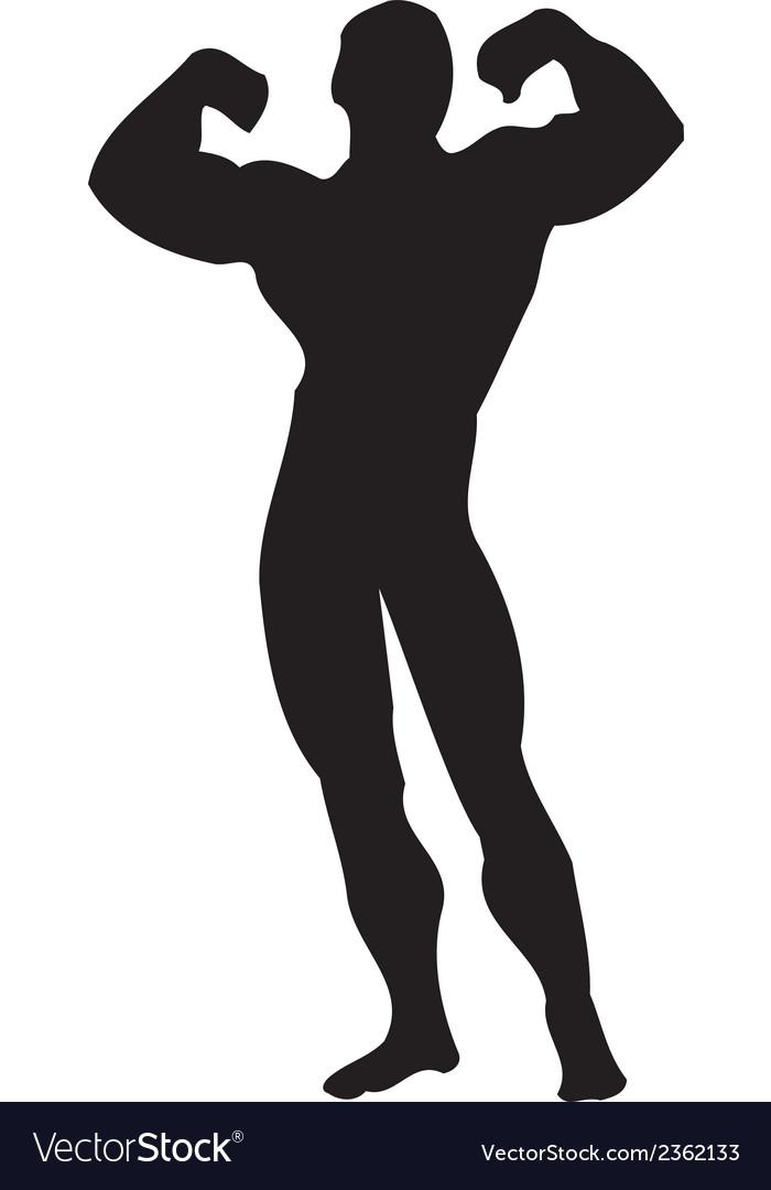Body builder muscle clipart design vector