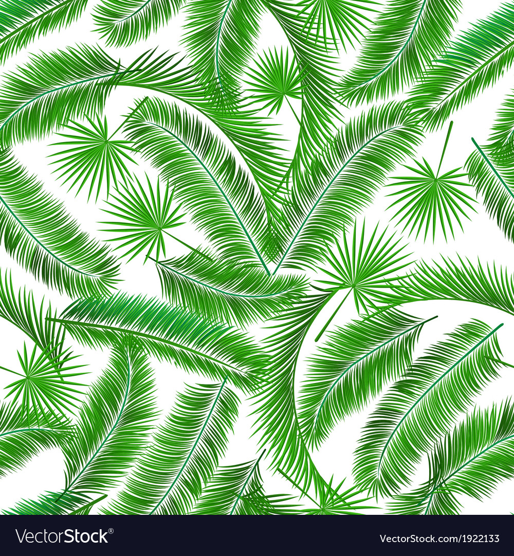 Tropical palm tree seampless pattern vector