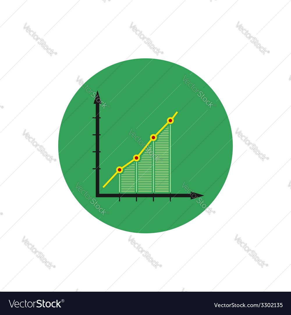 Infographics icon chart icon vector