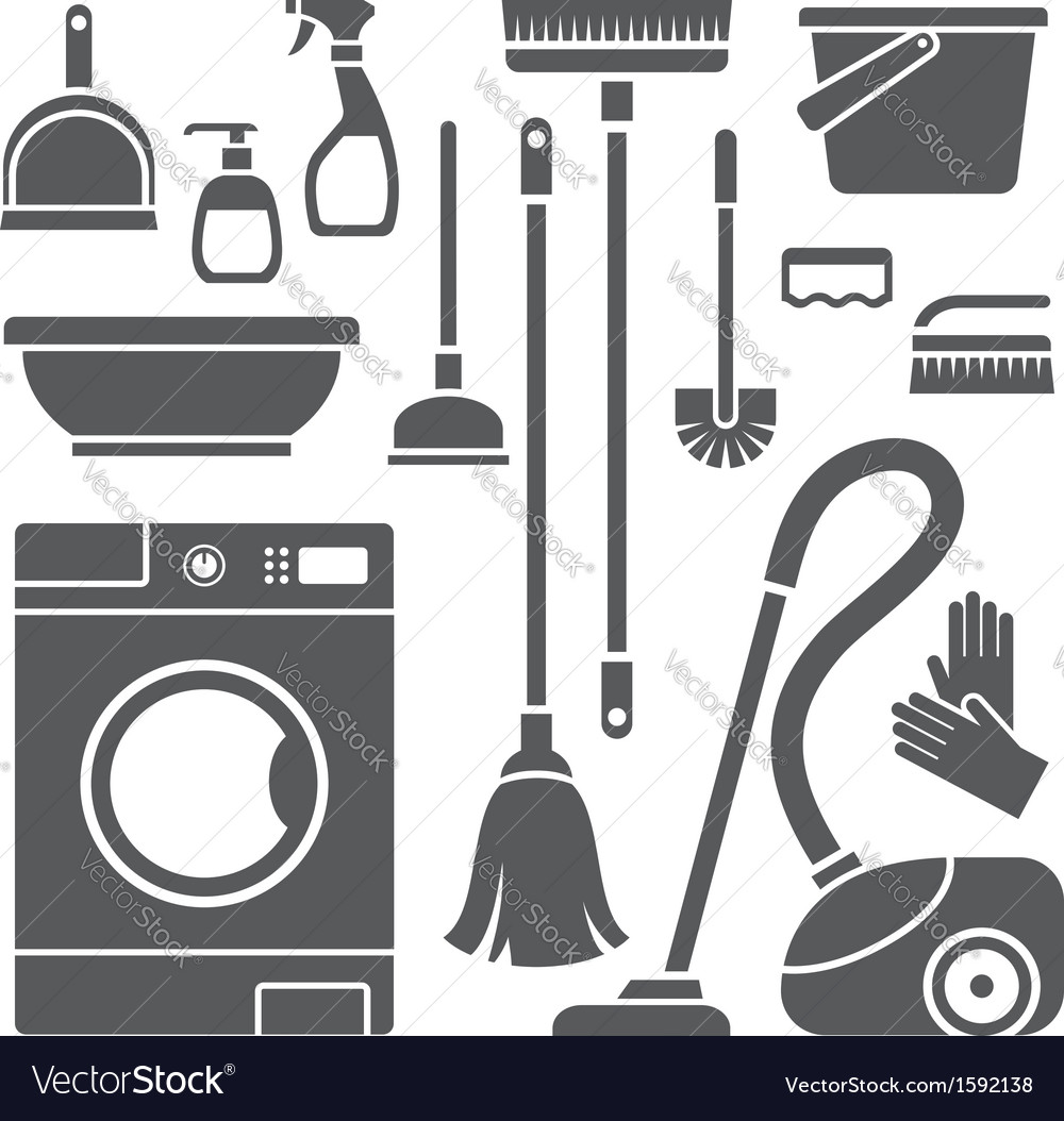 Cleaning symbols vector