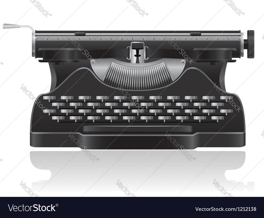 Old typewriter 01 vector