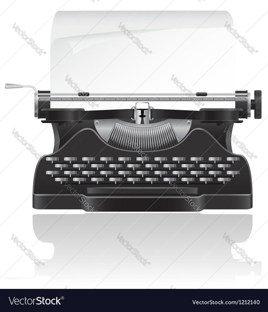 Old typewriter 02 vector