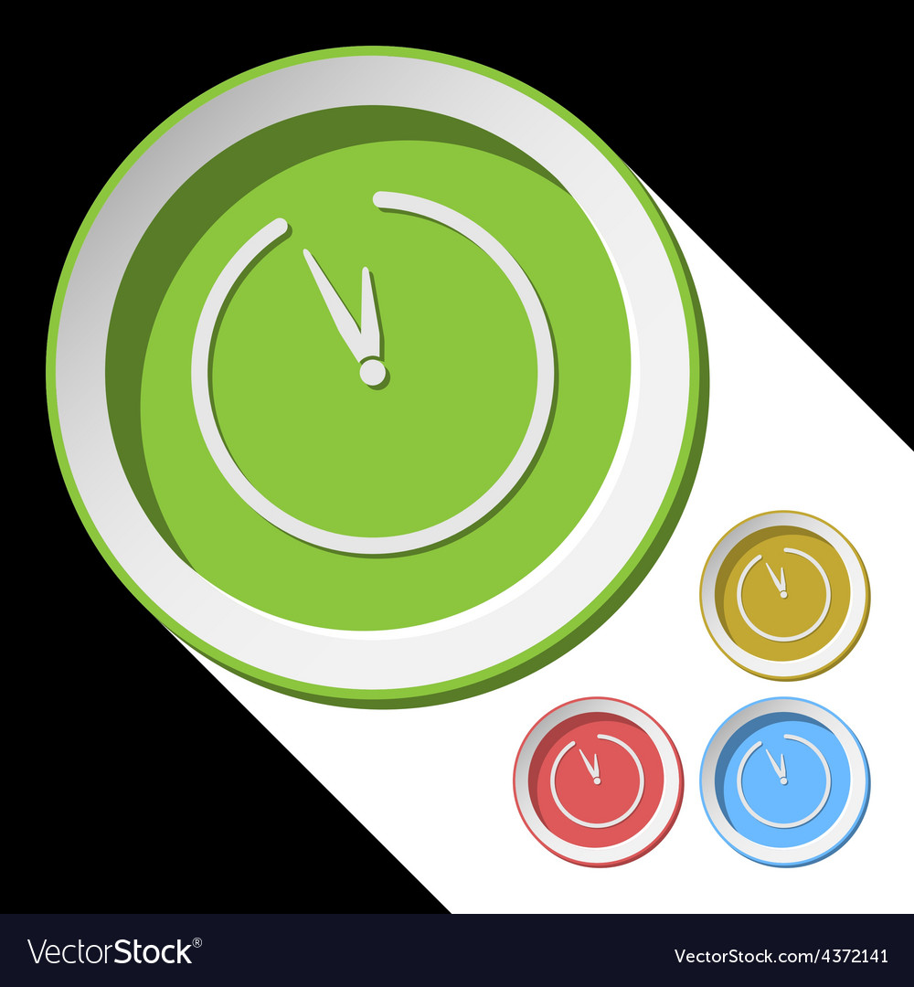 Color icons with clock vector