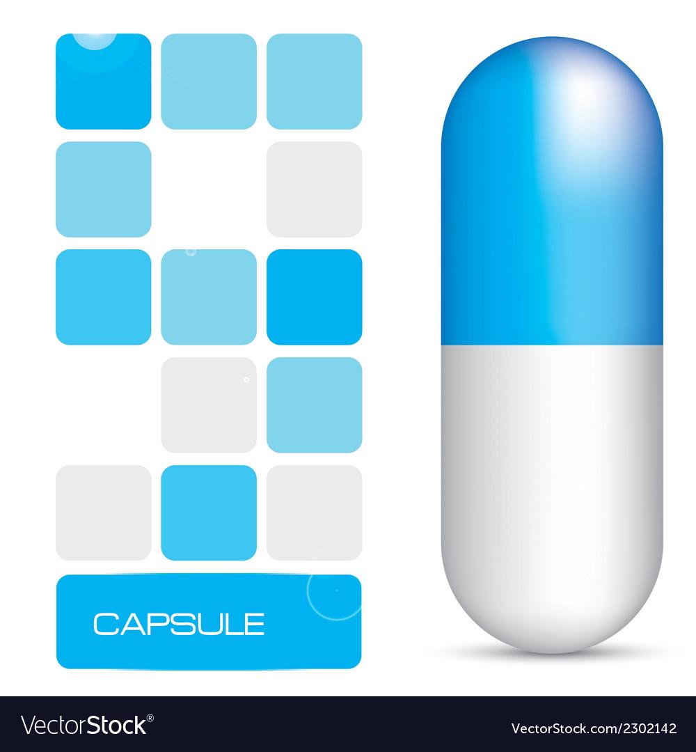 Blue capsule vector