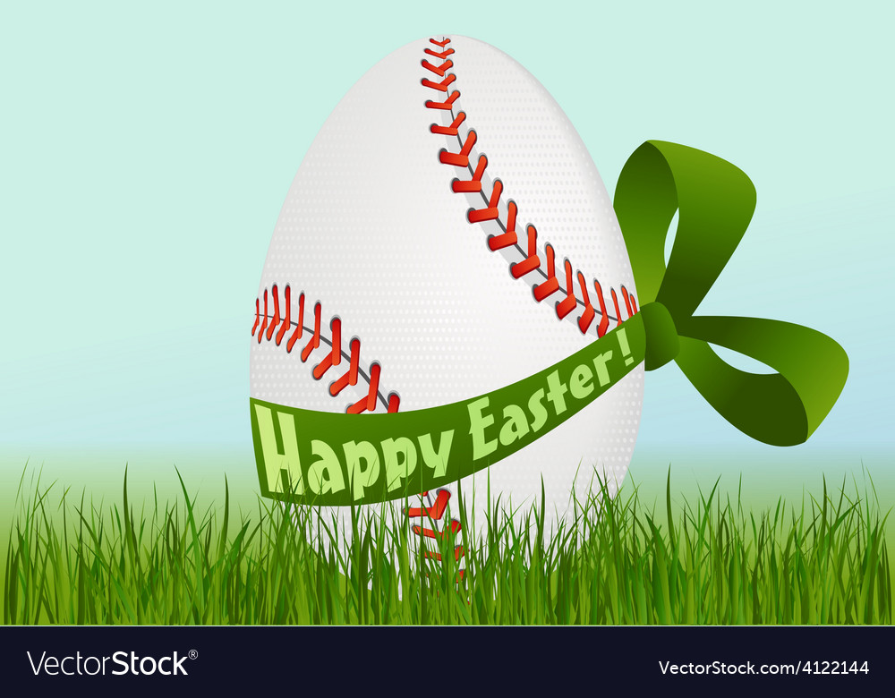 Baseball easter egg vector