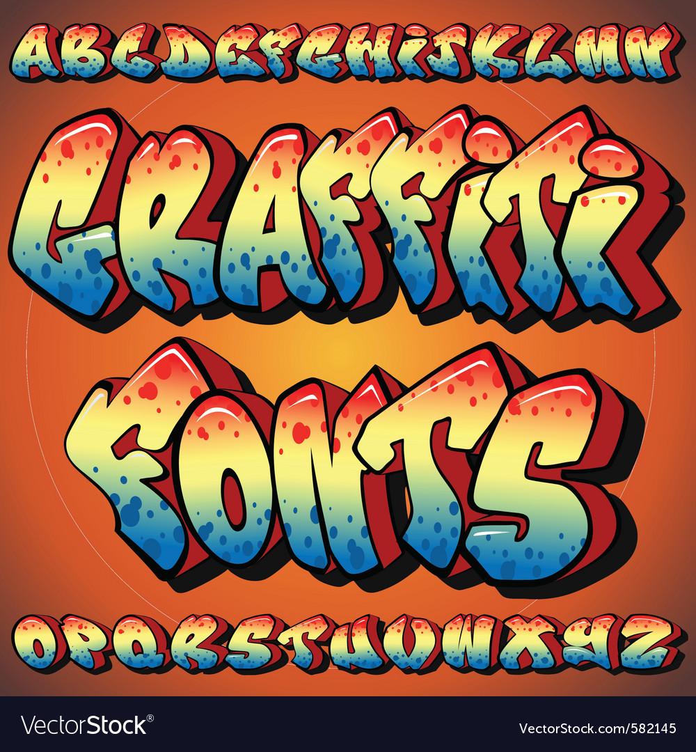 Graffiti fonts vector