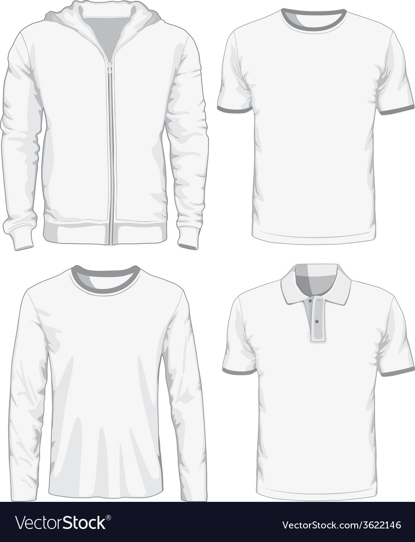 Set of male shirts vector