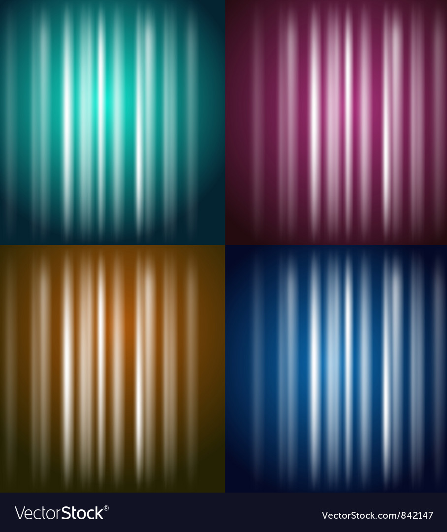 Colored glow vector