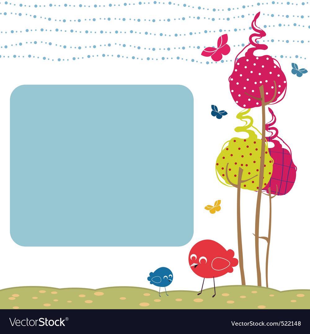 Retro greeting card vector