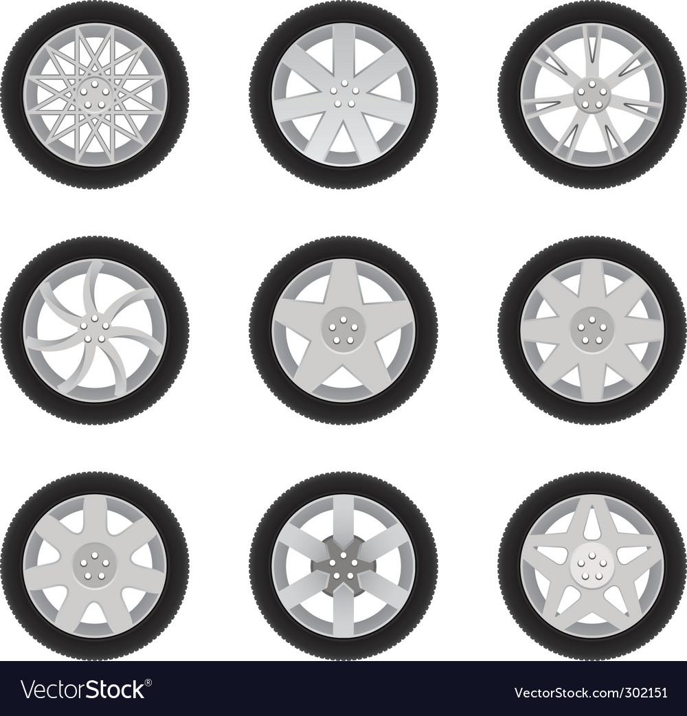 Car discs vector
