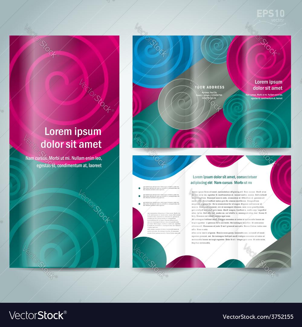 Brochure design template spiral vector