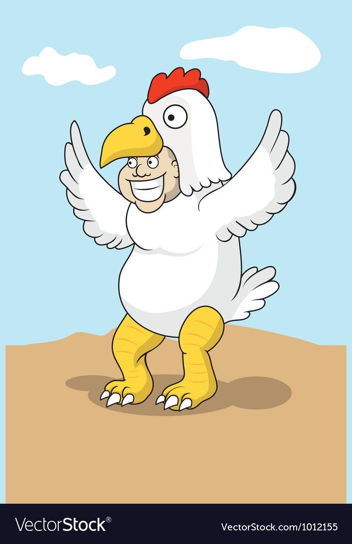 Chicken costume vector