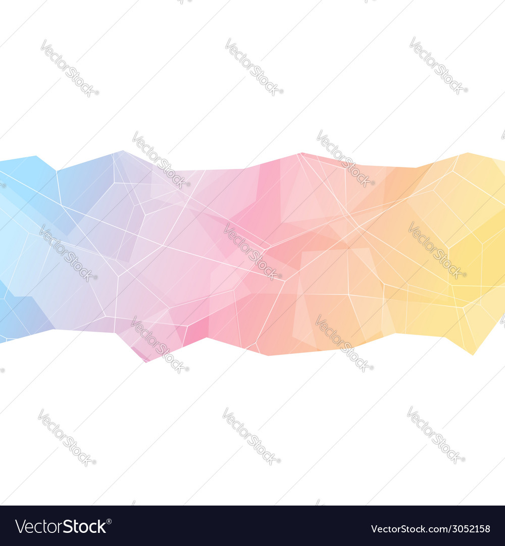 Brochure cover crystal structure abstract style vector