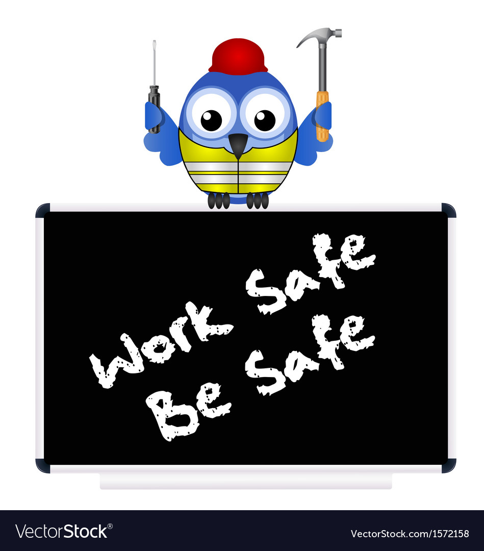 Construction work safe vector