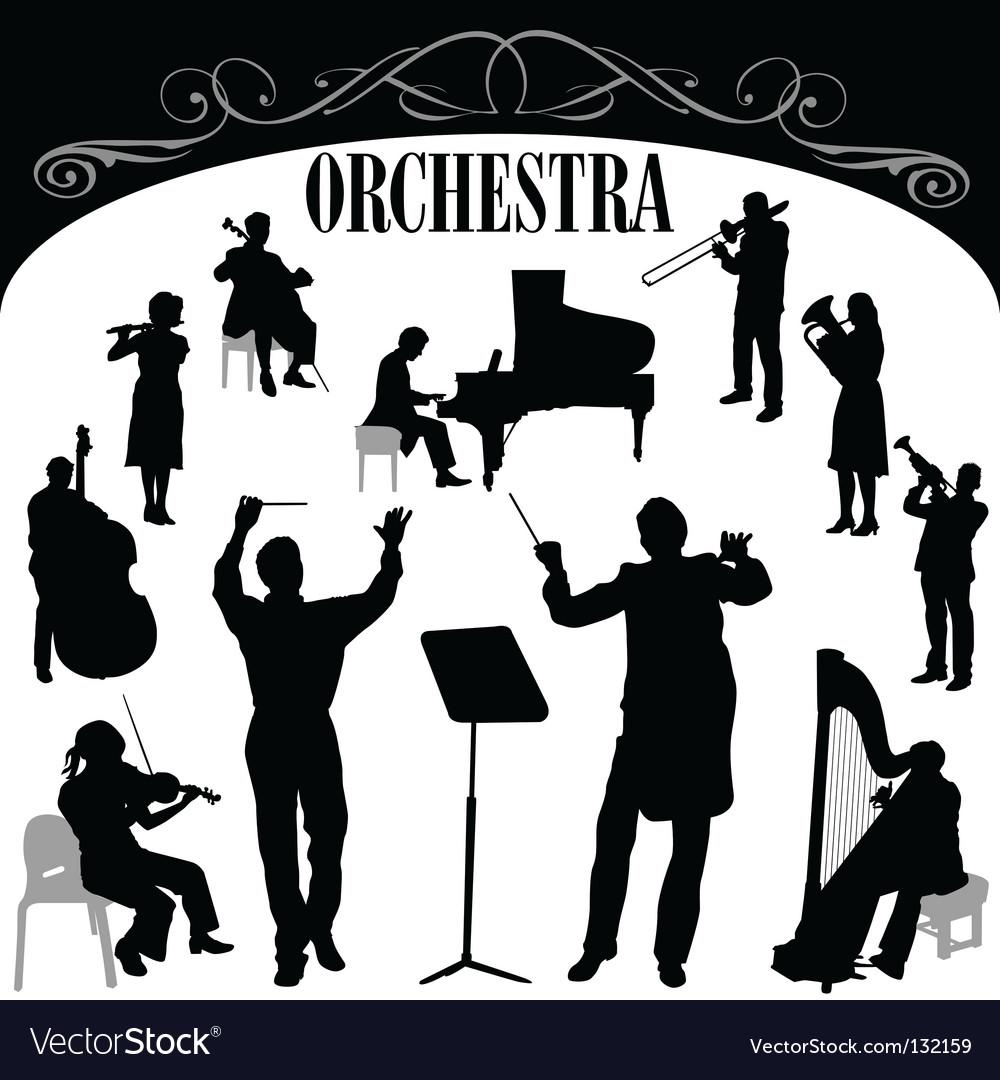 Orchestra set vector