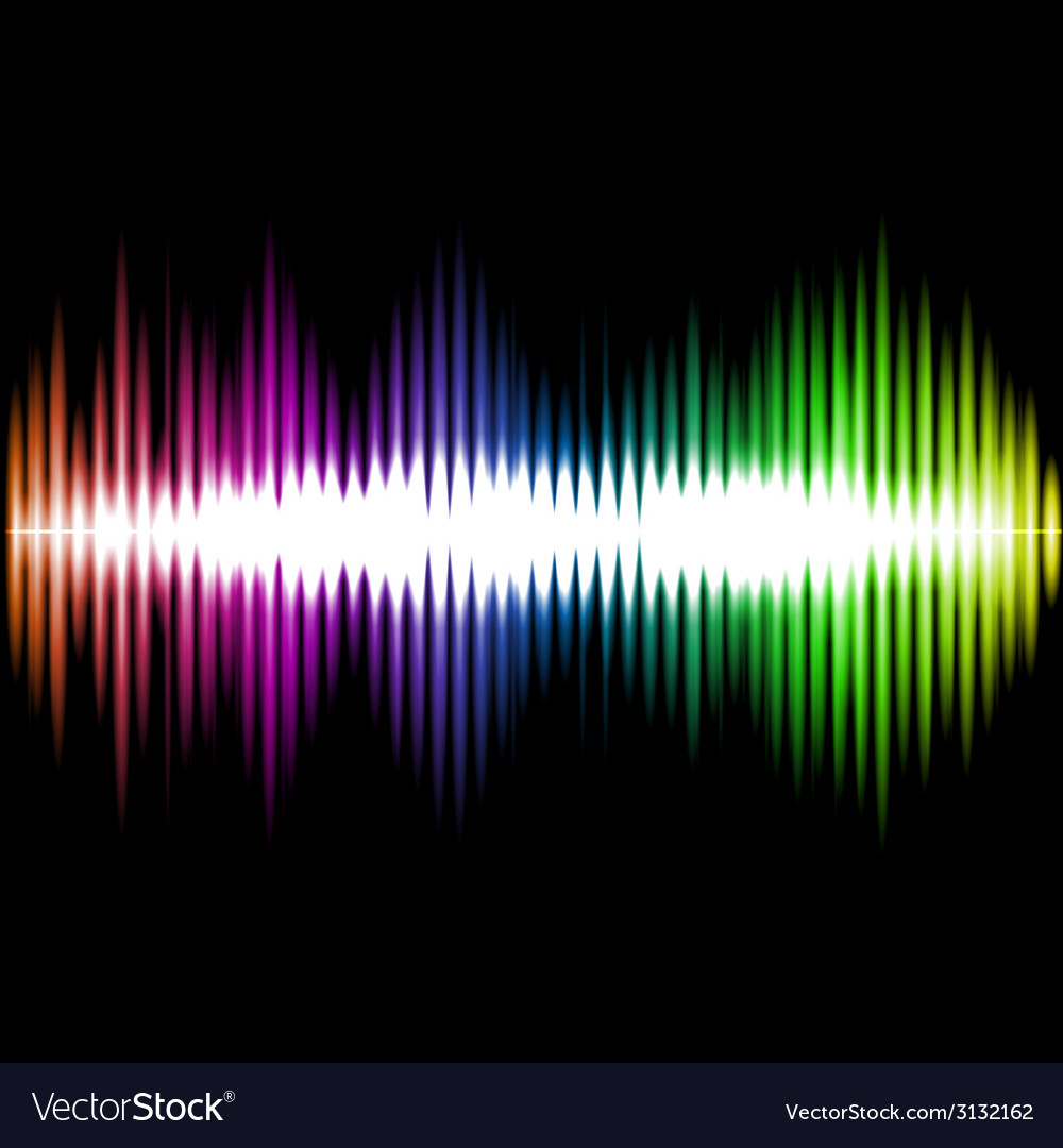 Sound equalizer wave abstract background vector